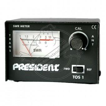 КСВ-метр, измеритель мощности President TOS1